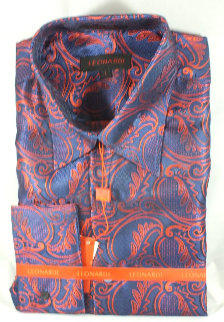 Entertainer Blue/Red French Cuff Shirt