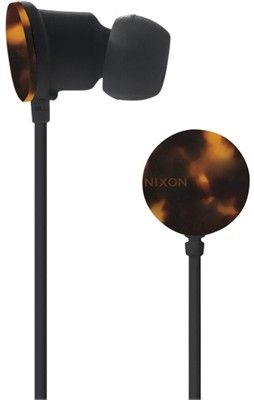 tortoiseshell earbuds.  i would lose these in approximately 2 days - not worth it but super cute.
