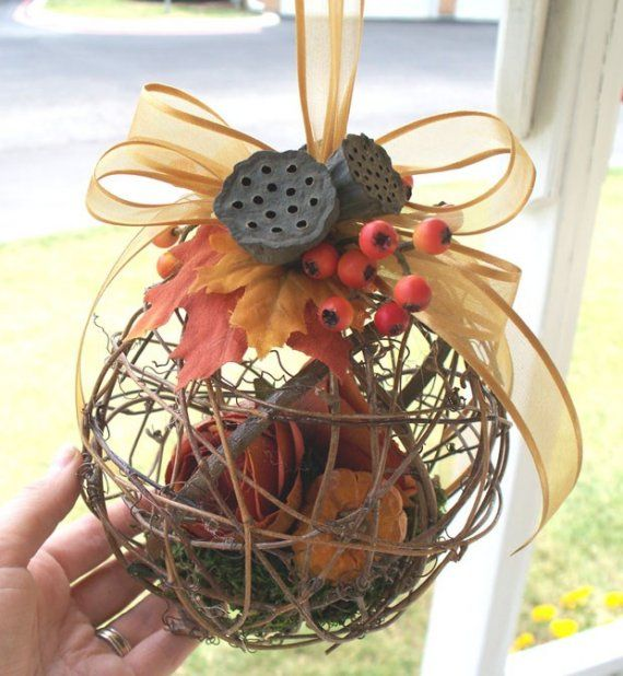 Autumn Pomander\/Kissing Ball