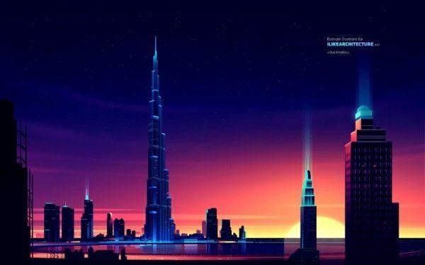 Burj Khalifa, an amazing and unique skyscraper design in Dubai, United Arab Emirates.