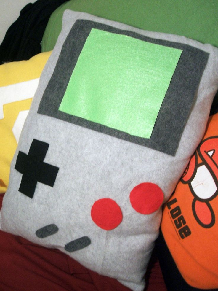 Nintendo Game Boy Pillow in Gray by audreymade on Etsy, $18.00