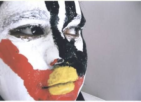 Image result for aboriginal flag face paint
