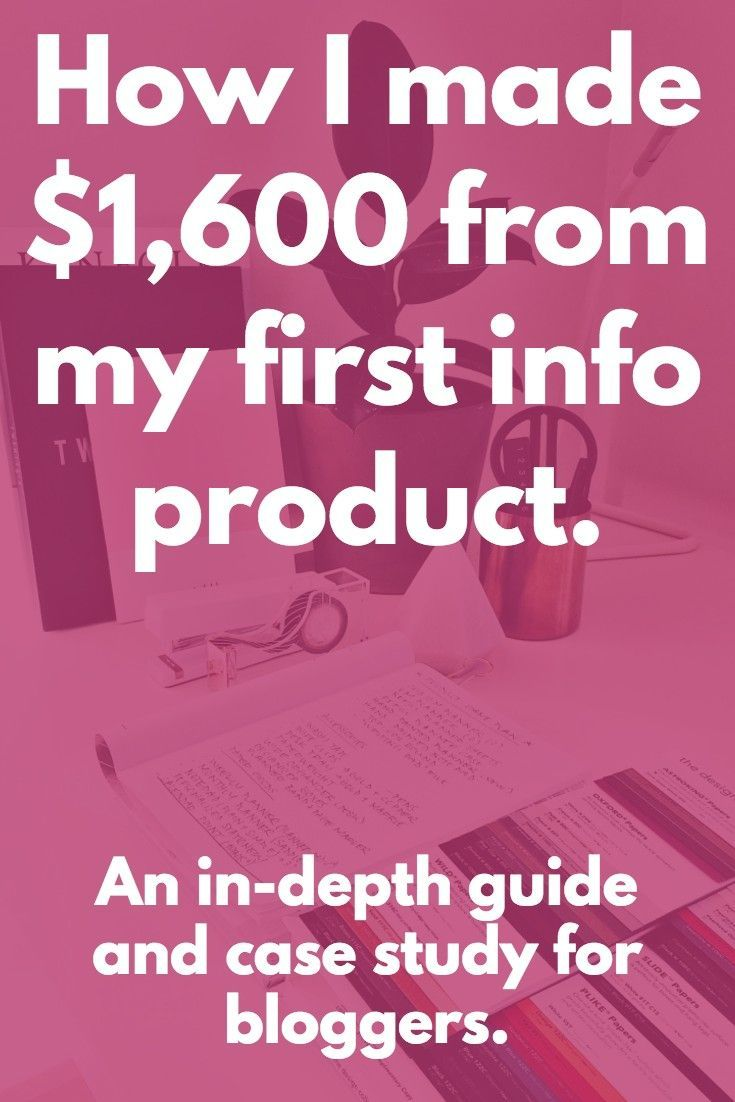 AMAZING case study and ultimate guide to launching a product! Also includes a handy info product launch checklist. #bloggingguides #Productlaunch
