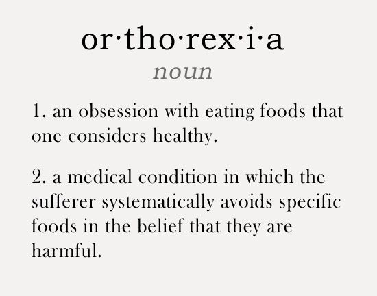 the disorder of orthorexia Like anorexia nervosa, orthorexia is a disorder rooted in food restriction unlike anorexia, for people with othorexic, the quality instead of the quantity of food is severely restricted.
