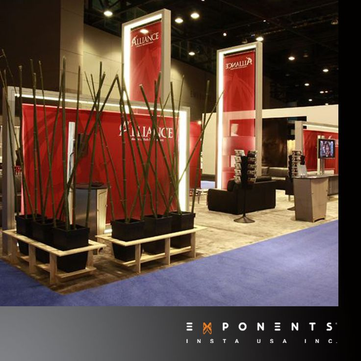 Modular Exhibition Stands Tall : Modular display booth lumiture is internally lit frame