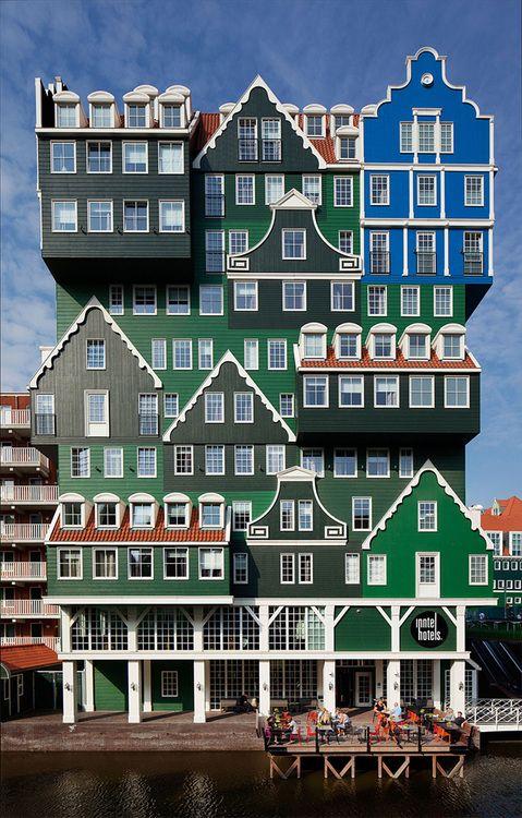 Inntel Hotel Amsterdam Zaandam (not Victorian, but definitely a painted lady)