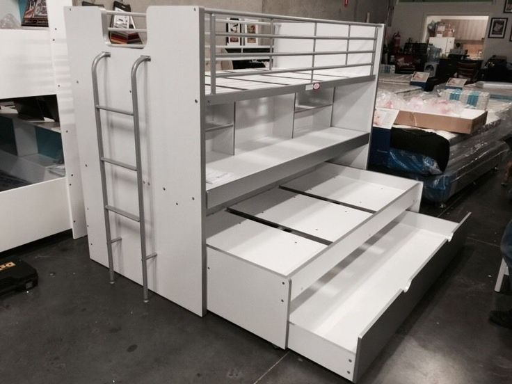 Bunk Bed Single With Trundle And Desk Storage New In Box