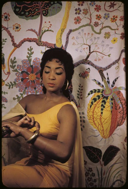 Soprano Gloria Davy, photographed by Carl Van Vechten on February 22, 1958, in character as Aida