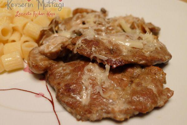 Fırında Mantarlı Bonfile Tarifi - Kevser'in Mutfağı - Yemek Tarifleri