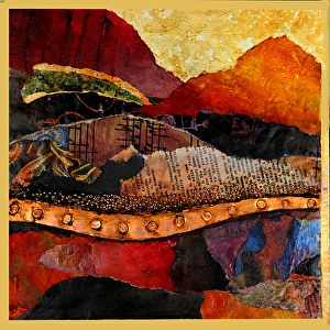 Singing Hills, 110216 by Carol Nelson mixed media ~ 8 inches x 8 inches