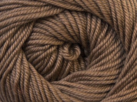 Knit Yarn Wool DeLuxe Camel Brown  100 wool by specialyarnshop, $8.90