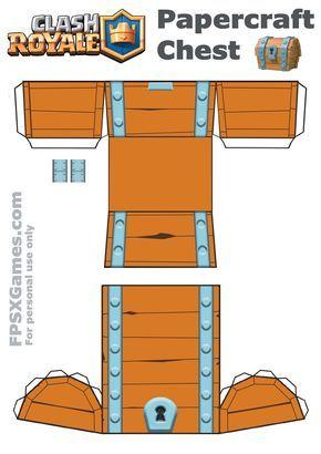 Baú papercraft