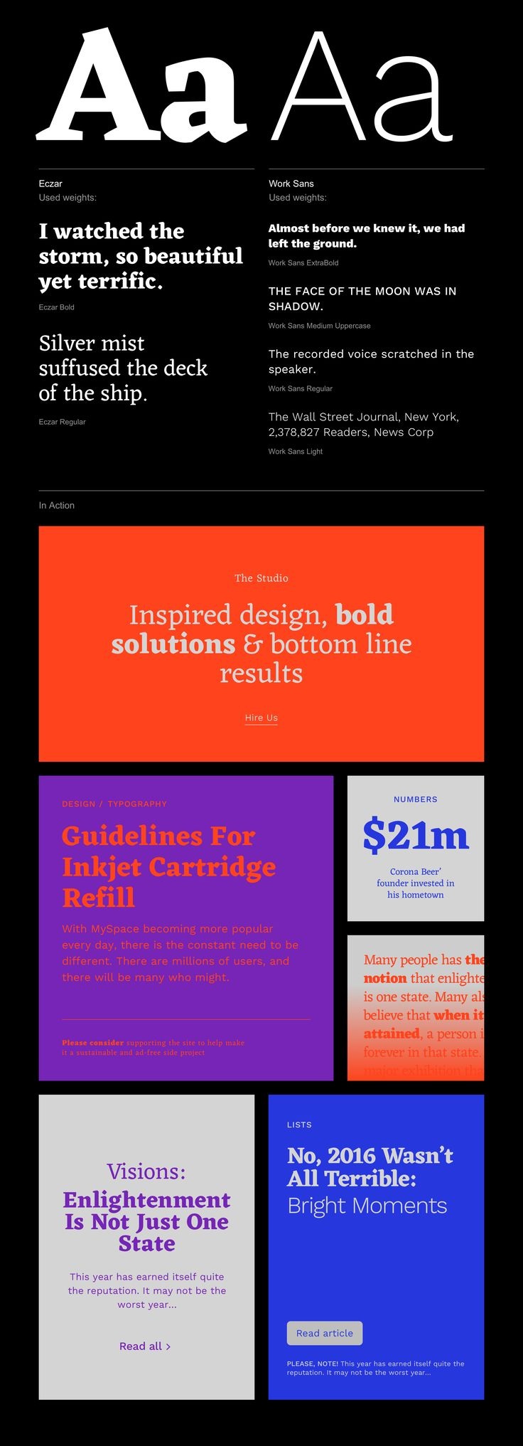 5 bright and unusual combinations of free Google Fonts