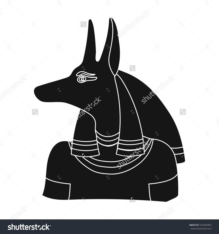 Anubis icon in black style isolated on white background. Ancient Egypt symbol stock vector illustration.