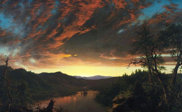 Frederic Edwin Church, Tramonto nella landa selvaggia.