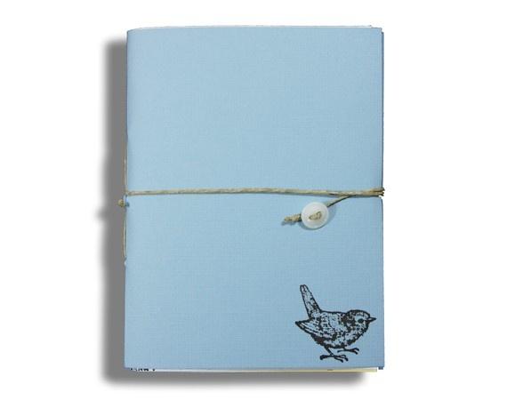 Blue Bird Recycled Notebook in Blue Streak by subu on Etsy, #shopumbabox #handmade