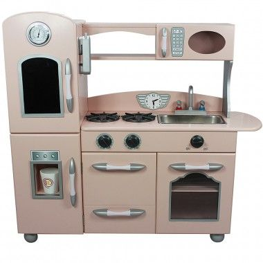 Elegant Teamson Pink Country Living Childrens Toy Kitchen This Teamson Kitchen With  Its Modern, Retro And