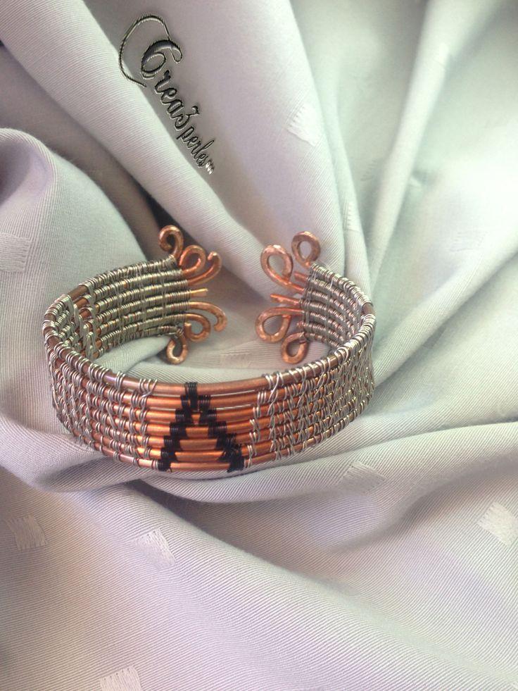 bracelet cuivre et acier tressé fabrication artisanale