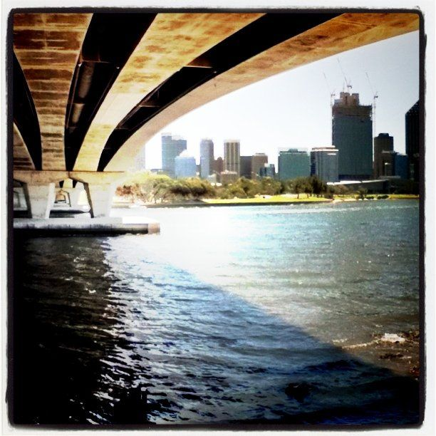 Perth from under the Narrows. #instagram #instacanvas