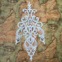 Слоновая кость свадебное платье кружева аппликации большой кружевными цветами кружева патчи традиционная вышивка мотивы кружева швейные для свадебное платье NEW!