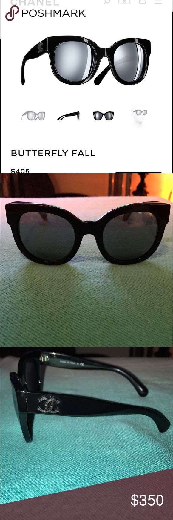 CHANEL oversized cat eye sunglasses Brand new never worn out so no scratches or smudges. Decided to get them since I was in love with the matte black rubber Chanel logo on the sides but decided after I bought them that I like more round glasses on my face shape and it ended up getting too late to return. If you want to look classy but cool at the same time these are the glasses to get lol CHANEL Accessories Sunglasses