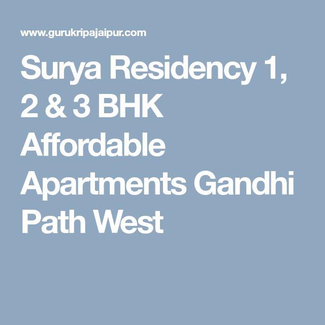 Cheap Apartments In California: Surya Residency 1, 2 & 3 BHK Affordable Apartments Gandhi