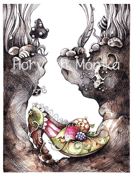 shoe forest witch print 6 x 9 print wall decor by mankabymonika, $17.00