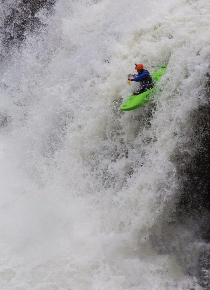 A pro instructor going over Little River Falls today in a kayak... photo from Robin Taylor