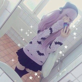 sweater pastel  goth