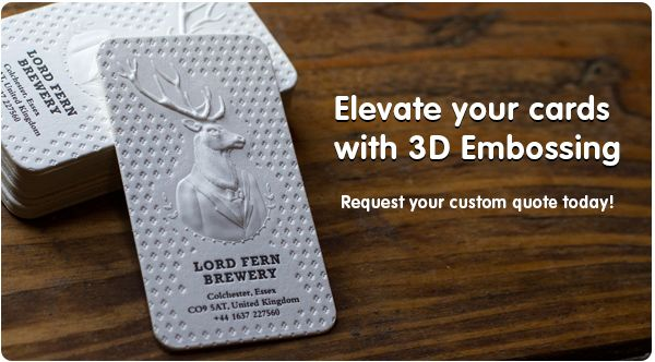 Make your card look rich with Embossed Business Cards - Jukeboxprint.com