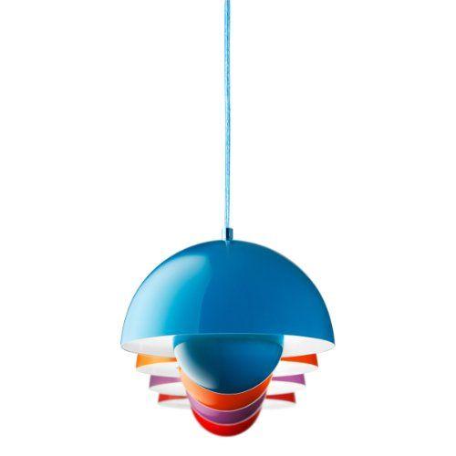 AndTRADITION FlowerPot VP1 Hngeleuchte Orange Verner Panton Design Deckenleuchte Pendelleuchte Wohnzimmerleuchte