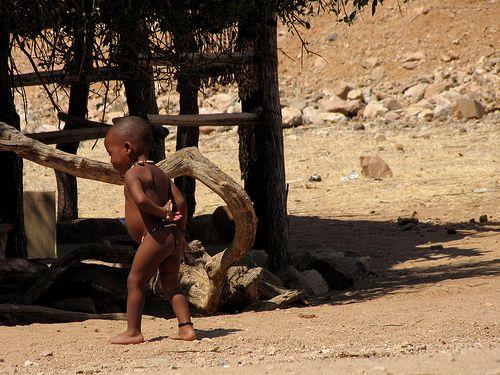 """""""I'm Thinking About It..."""" , baby Himba boy, Namibia"""