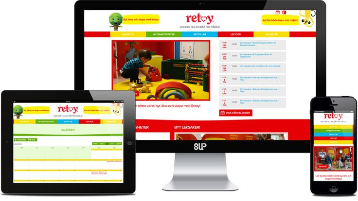 RETOY  We have been working with Retoy for almost three years. It's an amazing non-profit organisation which educates children about sustainable and eco living through play and toy swap activities. This year Sup Studio designed and developed a brand new website for Retoy as a Pro Bono project.
