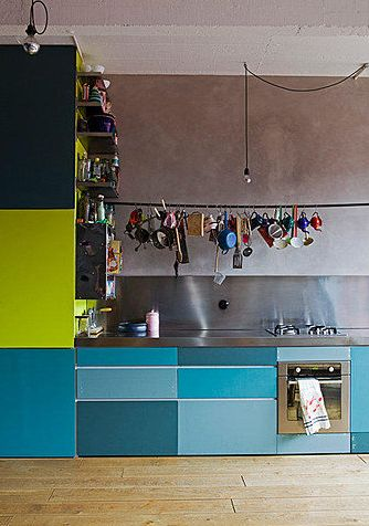 Colorful Kitchen #kitchen