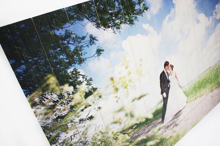 Trouwfoto op hout. #fotoophout #trouwfotoophout #trouwen #timberprint