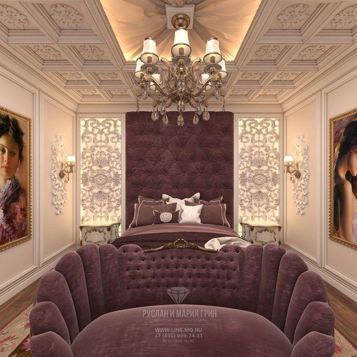 Спальня в классическом стиле. Фото интерьера