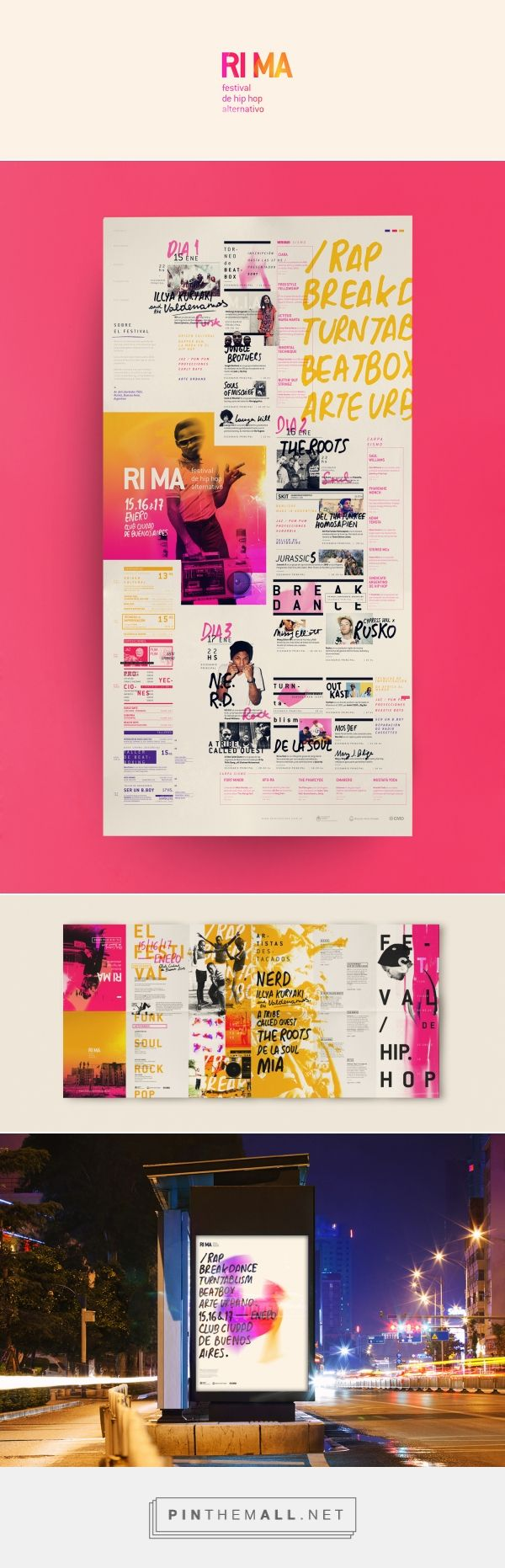 RIMA  Festival de hip hop alternativo on Behance   Fivestar Branding – Design and Branding Agency & Inspiration Gallery