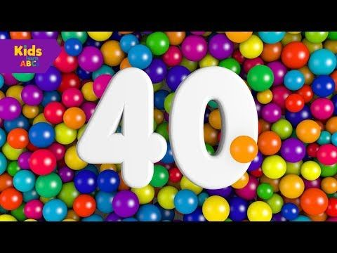 Learn To Numbers Counting 31 to 40 to 100 with Ball Pit balls | Nursery rhymes | Kidz Learn ABCs
