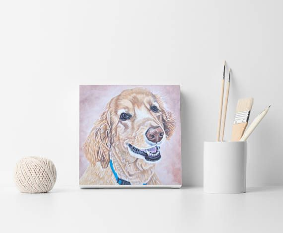 Custom pet portrait Custom dog portrait painting Custom dog