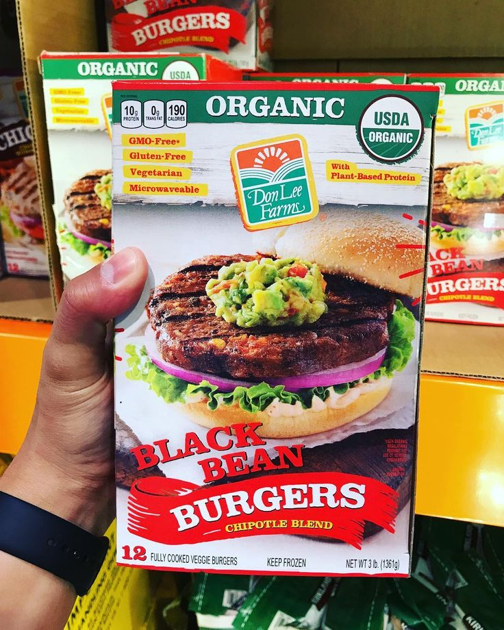@donleefarms #organic #vegetarian #blackbean #burgers on sale! $3.50 off now only $10.50 for 12 4 ounce #patties! #deal ends 7/9! #costco #costcodeals #gmofree #glutenfree #microwavable #plantbasedprotein #donleefarms