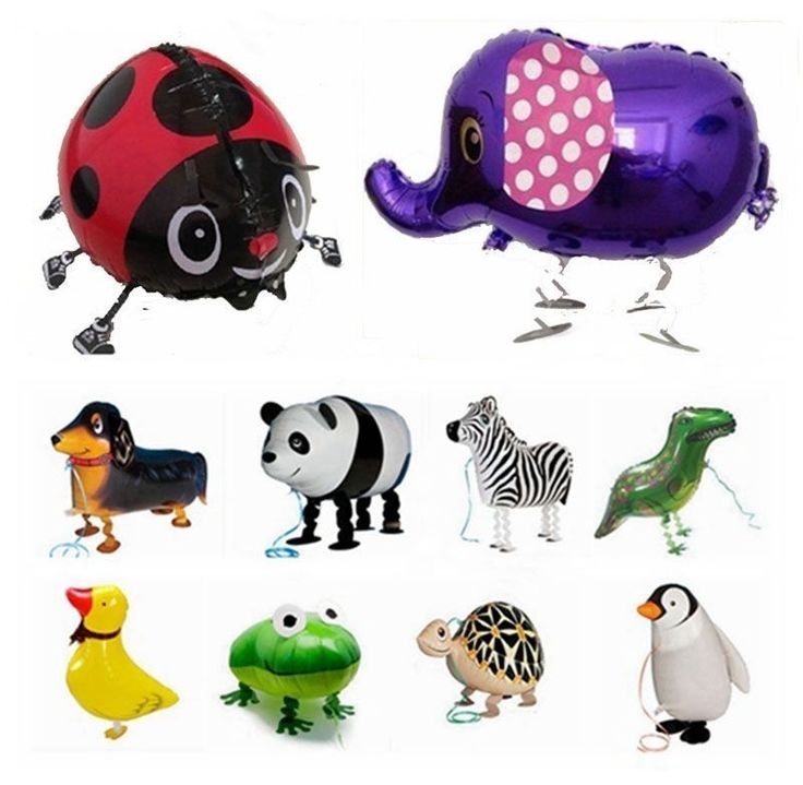 New 10 Foil Helium Animal Balloons Walking Pet Balloons Jungle Safari Zoo Party  #1PaysLess #BirthdayChildPartyChristmasNewYear: