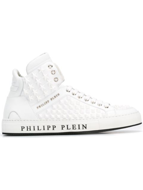 PHILIPP PLEIN 'Bobby D' Hi-Top Sneakers. #philippplein #shoes #sneakers