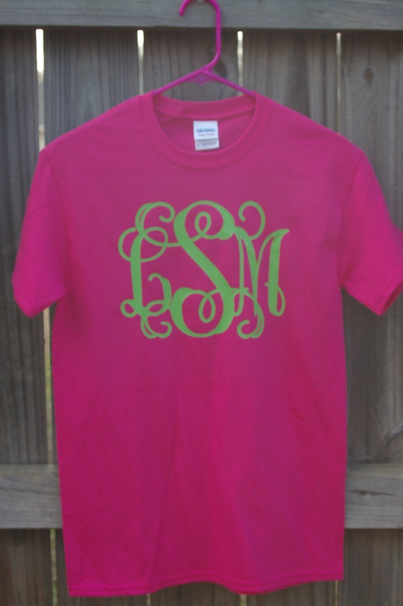 61 Best Images About Vinyl Monogram T Shirt Ideas On