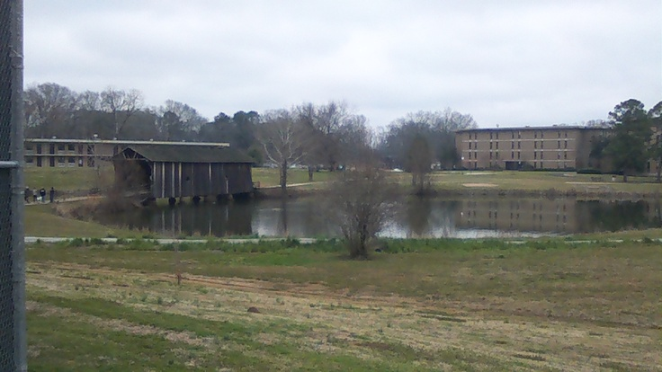 University of West Alabama is home to Lambda Rho Chapter and one of the oldest wooden covered bridges.