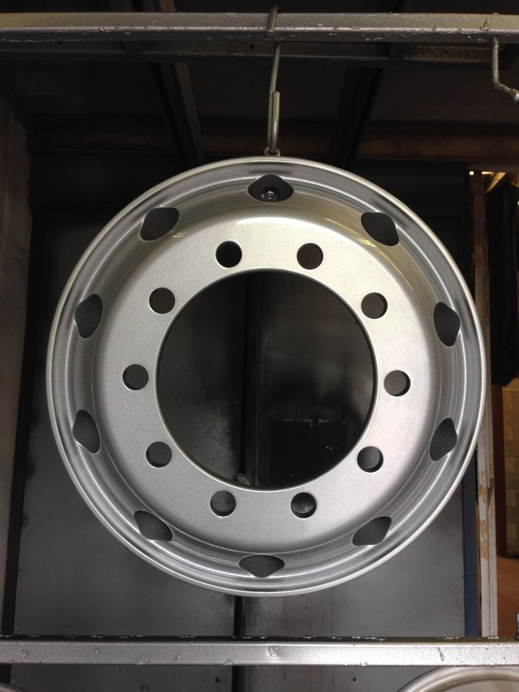 lorry alloy wheels done in silver