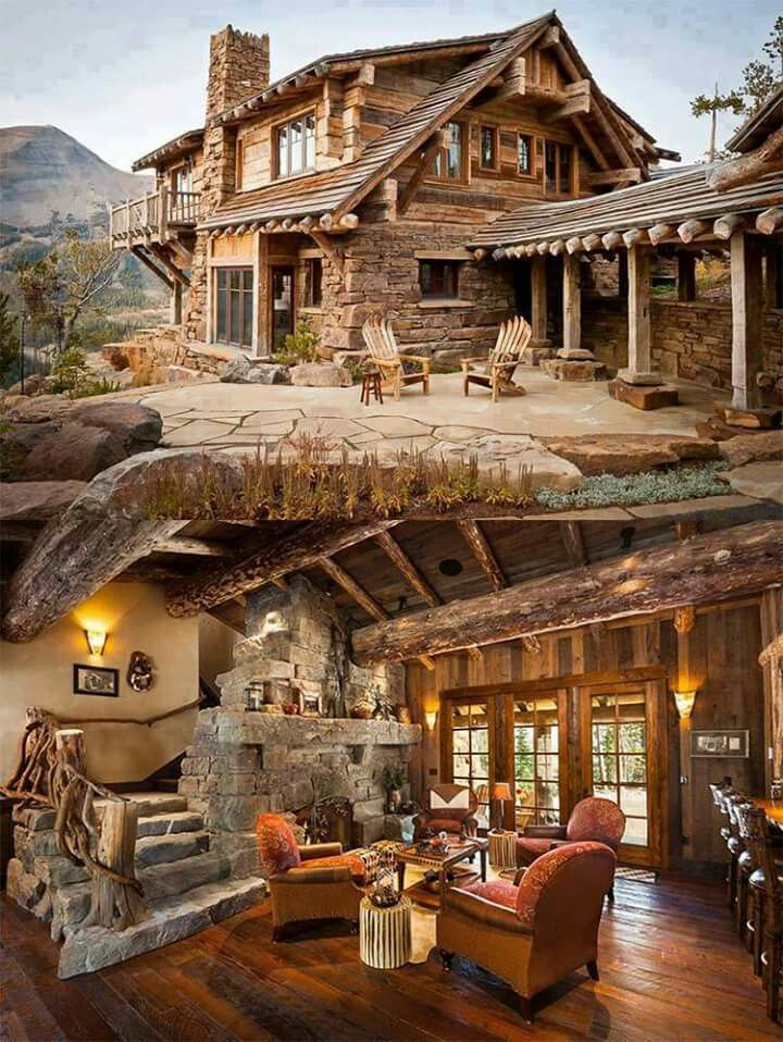 Love the weathered look and the squared off logs