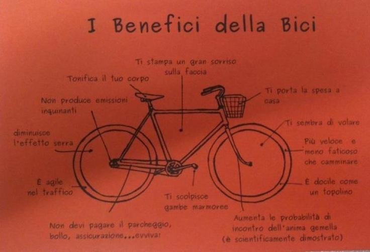 I benefici dell'andare in bicicletta (segnalata da Matteo Fantuzzi)