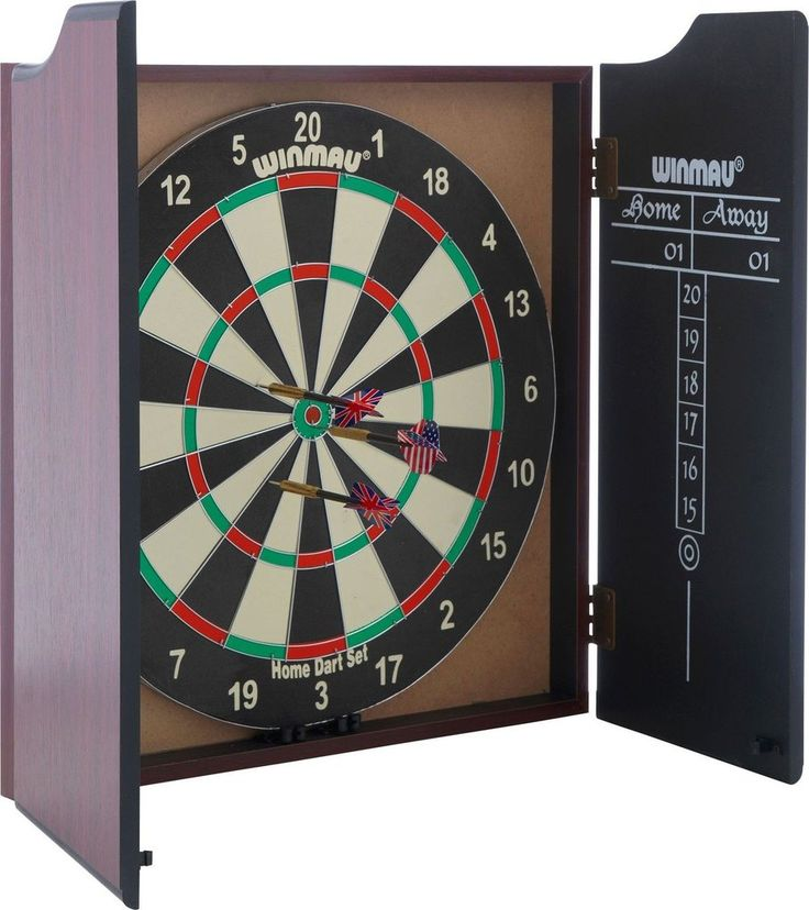 Winmau Professional Dartboard with Deluxe Cabinet and Darts. Visit us now and ENJOY 10% OFF + FREE SHIPPING on all orders