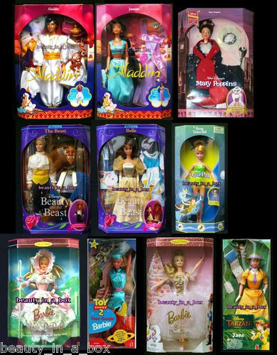 Aladdin Jasmine Belle Beauty Beast Jane Tarzan Mary Poppins Disney Barbie Doll | eBay