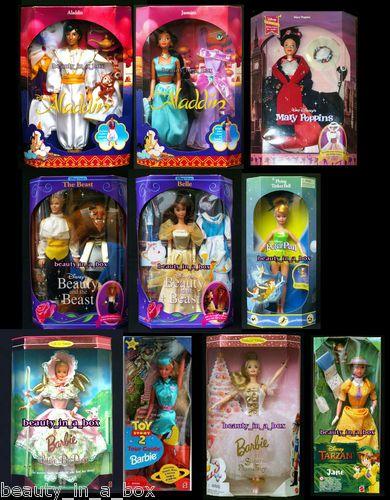 Aladdin Jasmine Belle Beauty Beast Jane Tarzan Mary Poppins Disney Barbie Doll | eBay